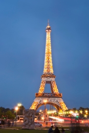 The Eiffel Tower at Twilight