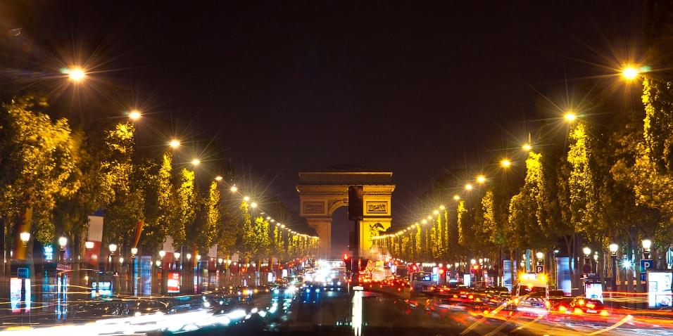 "Champs Elysees Available as Limited Edition 20""x10"" panoramic fine art print"