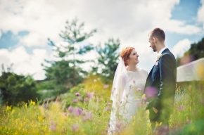 Wedding photography wildflowers - cheshire wedding photographer
