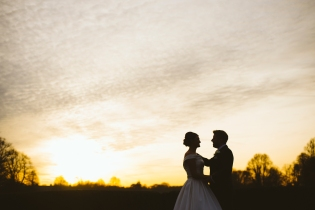 Oddfellows wedding photography sunset over the river - cheshire