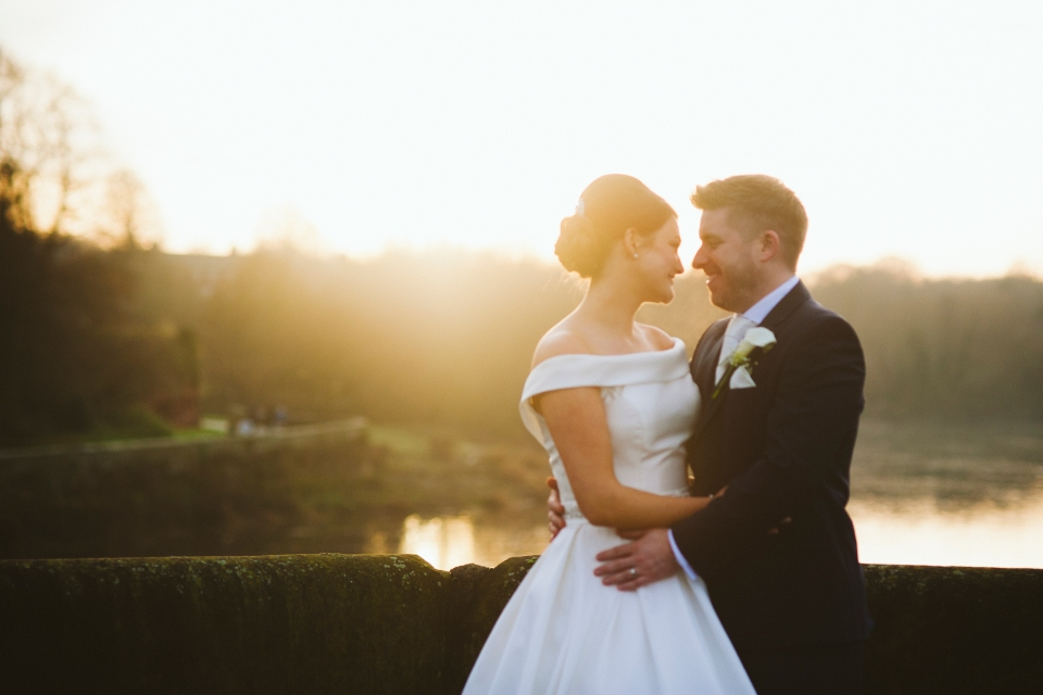 Oddfellows wedding photography sunset over the river - Chester, Cheshire