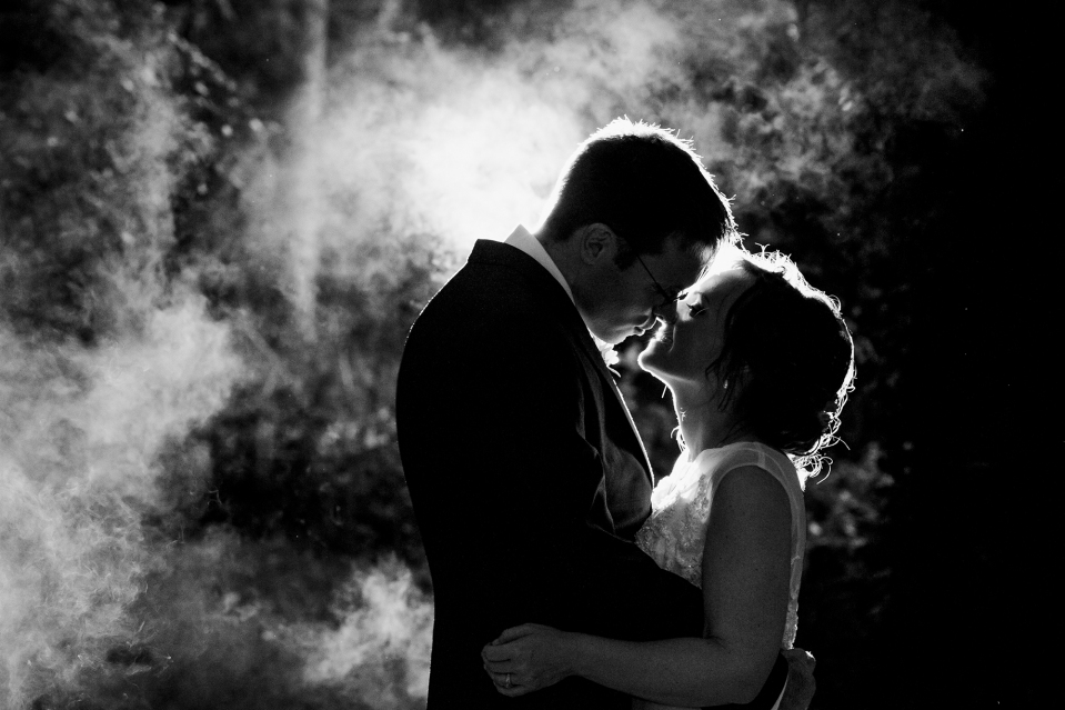 smoke bomb wedding photography at CHET