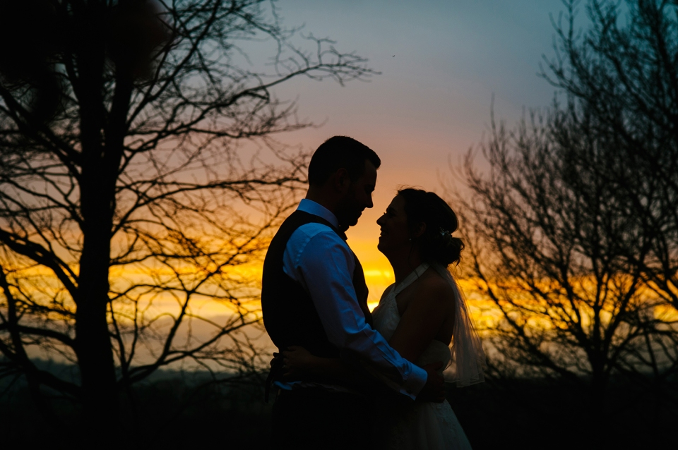 Bashall barn wedding photography. Bashall barn weddings. Sunset at Bashall barn